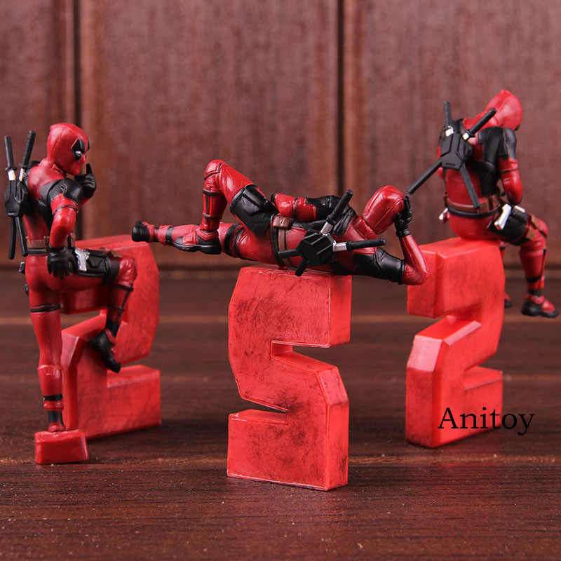 Figura de Ação maravilha Deadpool 2 Engraçado Modelagem Figuras PVC Brinquedos Do Carro Decoração da Casa de Bonecas