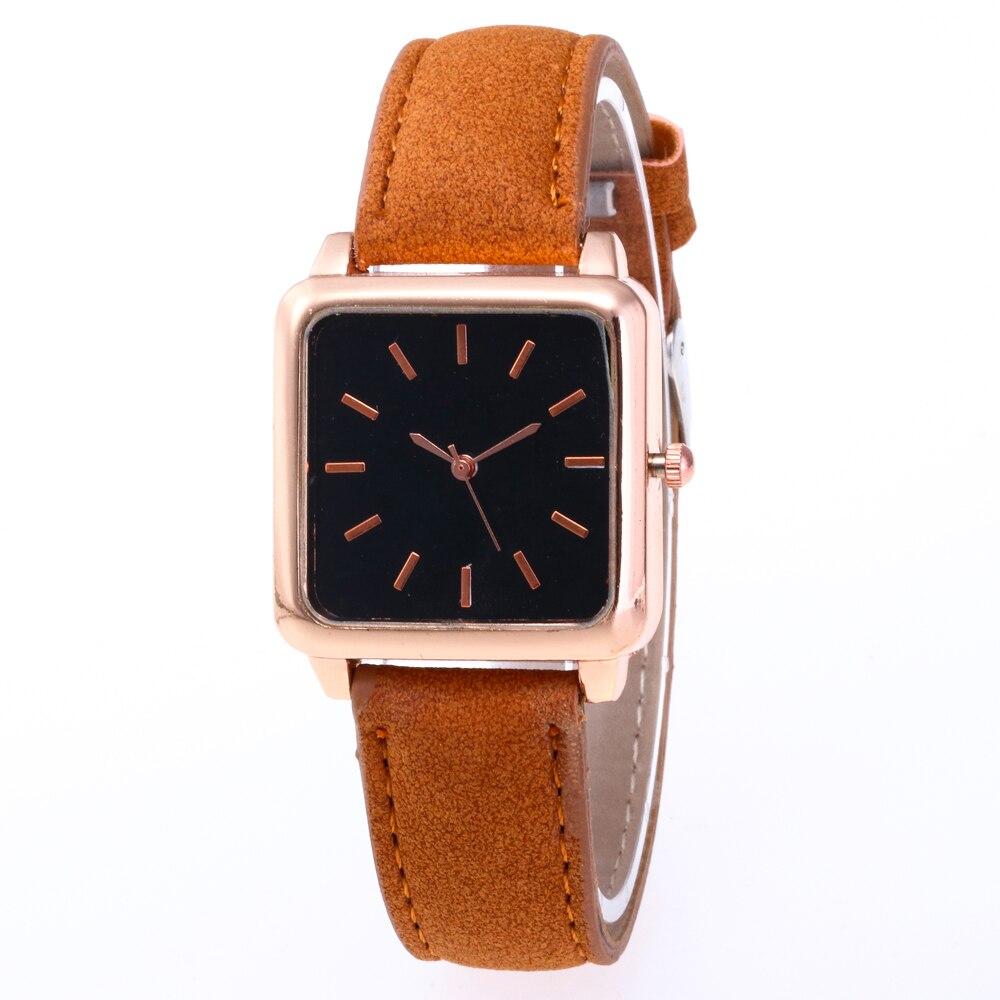 Women Watches 2019 Luxury Brand Simple Gold Quartz Watch Women Fashion Casual Leather Wrist Watch Female Clock Relogio Feminino in Women 39 s Watches from Watches