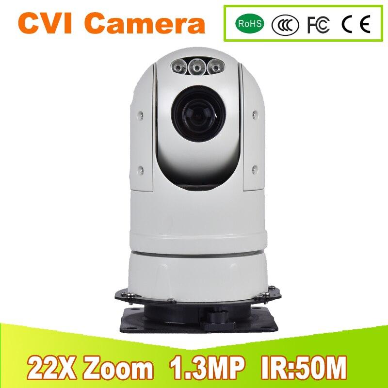 YUNSYE NEW CVI Bullet Camera Full HD CVI 960P IR Outdoor 22X pan tilt zoom 4.3-94.6mm 1.3MP PTZ Camera YUNSYE Police high speed hd cvi security bullet camera cvi 720p 1 0mp 2 array ir leds 6mm lens