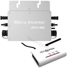 600 Вт Soalr инвертор WVC600 преобразователи Солнечный микро инвертор мощности PV инвертор с 2 м кабель переменного тока