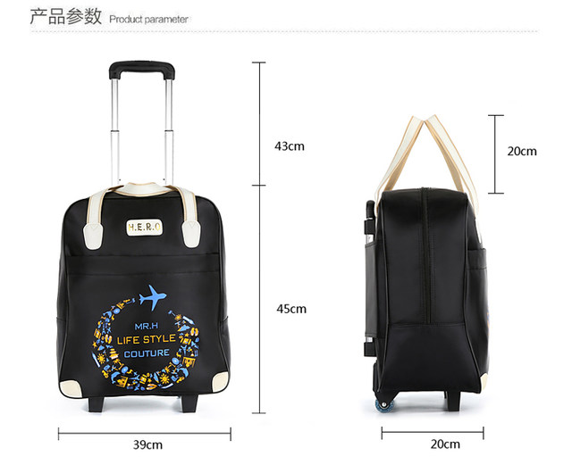 49e2a9604a Rolling Luggage Travel Bag On Wheels Trolley suitcase with handbag go  Shopping for Girls vs Women Boarding Trolley Luggage Sets-in Travel Bags  from Luggage ...