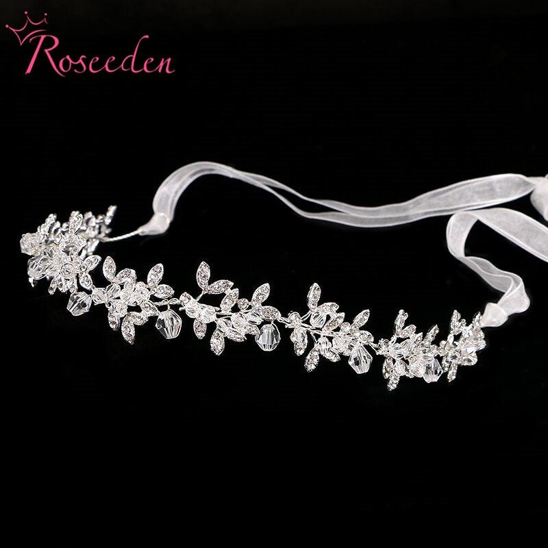 New Clear Crystal Bridal Wedding bridal headbands Metal Rhinestone Leaf Tiaras Crown for Women Freeshipping RE198B