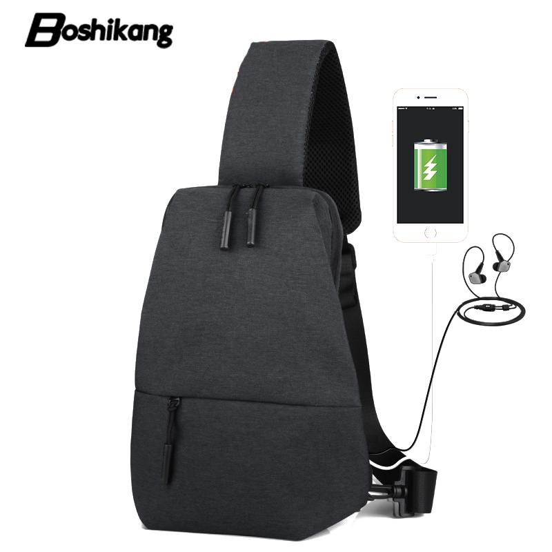 Detail Feedback Questions about Boshikang Shoulder Bags For Men High  Quality Oxford Crossbody Bags USB Charge Male Chest Bag Money Phone Sling  Bag Teenager ... 63401bc7b5