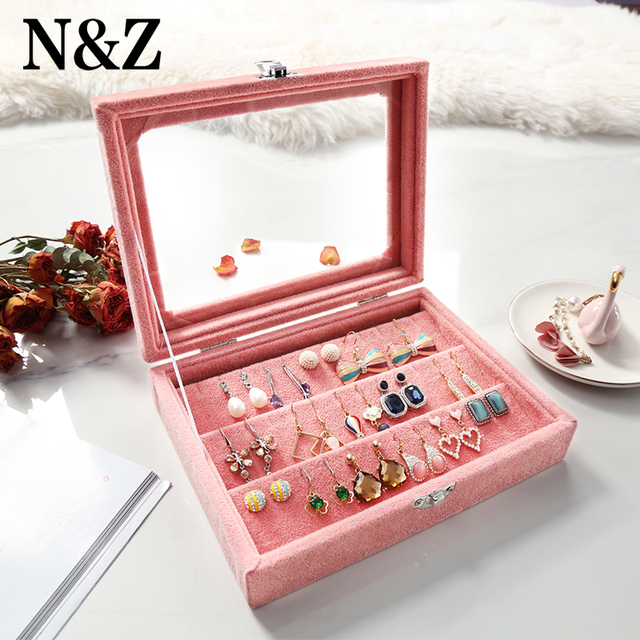 NZ Jewelry Box Rings Bracelet Fabric Jewelry Casket Organizer