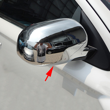 Mitsubishi outlander 2013-2018 용 2 pcs 크롬 커버 터닝 라이트 액세서리가없는 후면보기 사이드 미러 몰딩
