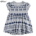 Print Girls Dresses Summer 2016 European and American Style Girls Clothes Brand Baby Kids Dresses Cotton Dress For Girls