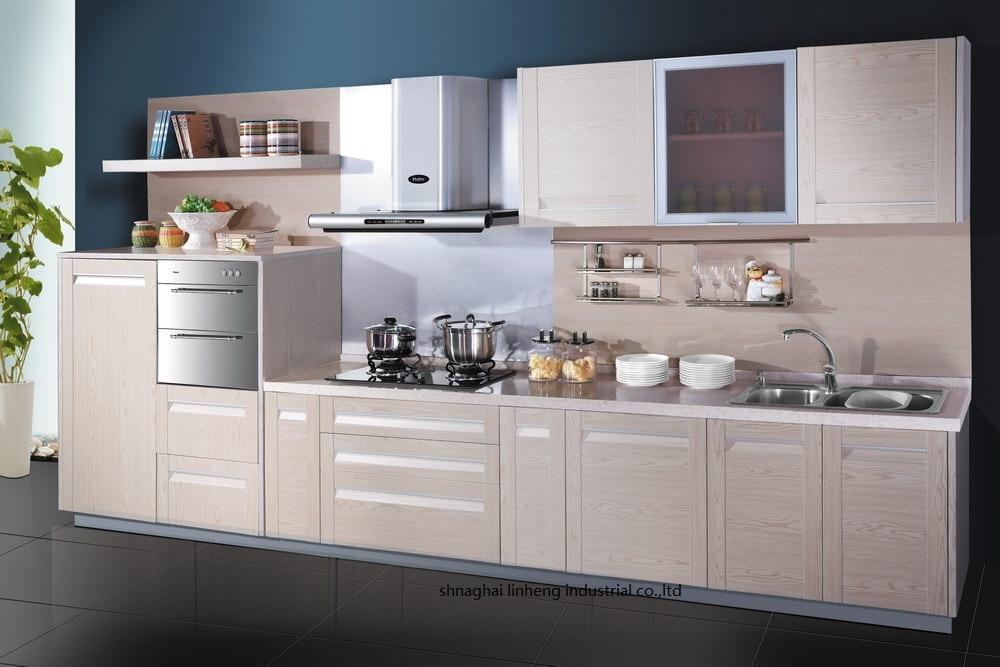 Pvc Vinyl Kitchen Cabinet Lh Pv056 Kitchen Cabinet Pvc Kitchen Cabinetpvc Cabinet Aliexpress