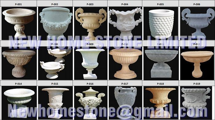 pretty flower pot decoration stone natural garden ideas 2015 new designer holy grail beige stone hand carved natural marble pot in garden pots planters