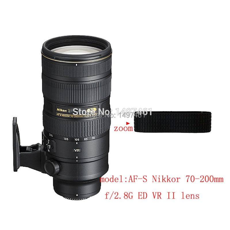 Lente Zoom anillo de goma/Goma Grip Repair Succedaneum para Nikon AF-S 70mm 200 f/2,8G ED VR II lente