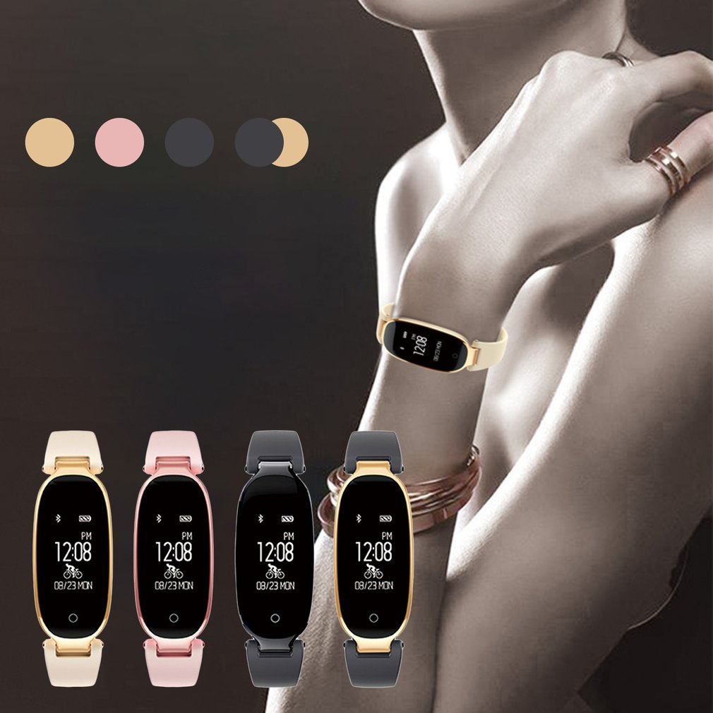 Womens S3 Bluetooth Smart Watch Heart Rate Monitor Fitness Tracker Waterproof Smartwatch for Android for IOS Wearable Devices
