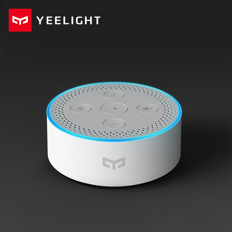 Original xiaomi Mijia Yeelight smart speaker Xiaomi AI Intelligence Speaker and BLE gateway function and work with Mi Home APP xiaomi yeelight led ceiling pro 650mm rgb 50w work to mi home app and google home and for amazon echo for xiaomi smart home kits