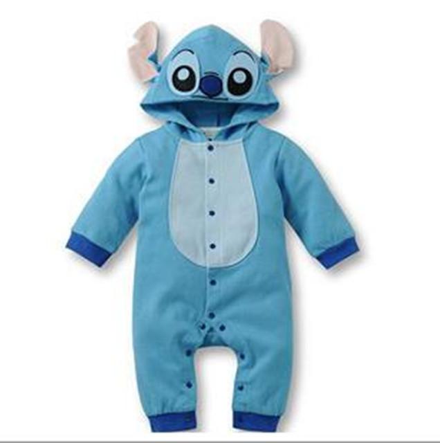 Dos desenhos animados Do Bebê Romper com Chapéu Recém-Nascido uma peças de algodão das Crianças Roupas de Bebê menino Roupas de menina