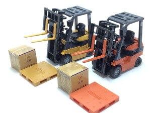 Image 2 - 1:60 échelle alliage modèle voiture alliage ingénierie véhicules ascenseur chariot élévateur boîte cadeau simulation chariot élévateur enfants jouets livraison gratuite