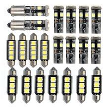21 шт. Светодиодная лампа для освещения салона автомобиля Купол Карта Лампа Комплект номерного знака светильник лампы для BMW E46 седан M3 1999-2005 светодиодный светильник лампы