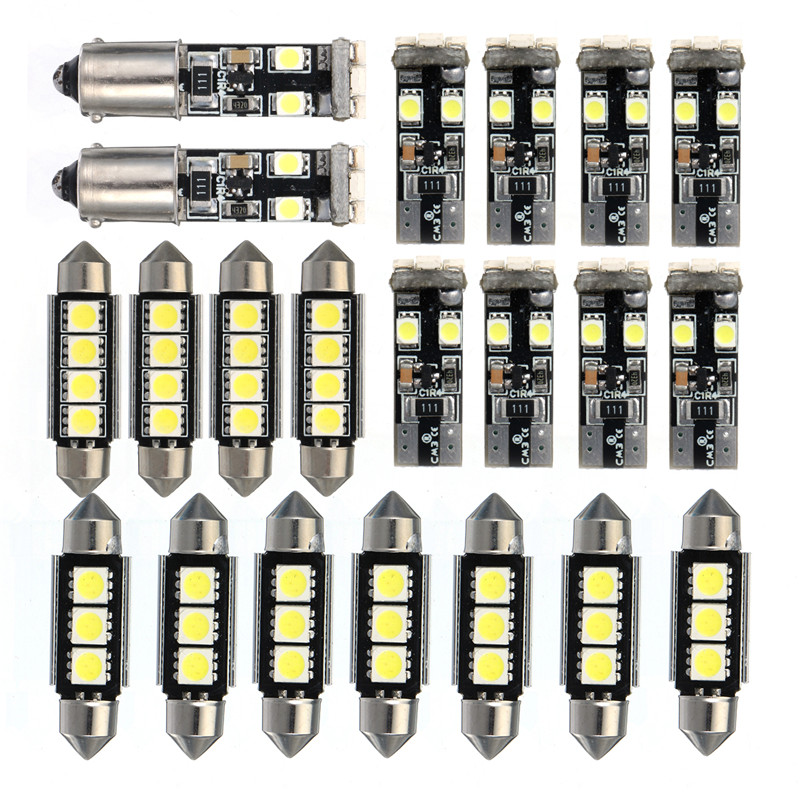21 stücke Auto LED Innen Licht Kuppel karte Lampe Kit Lizenz Platte Licht Lampen für BMW E46 Limousine M3 1999 -2005 led-lampen