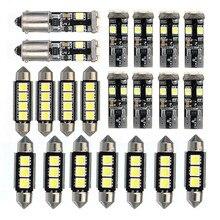 21 шт автомобилей Светодиодный Внутреннее освещение купола Карта лампы Комплект номерных знаков светильники для BMW E46 седан M3 1999-2005 Светодиодный лампочки