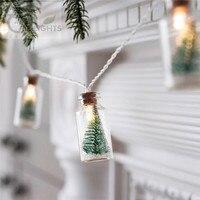 クリスマスツリーガラスジャーボトルストリングライト付き20 ledバッテリ駆動用ウェディングパーティーフェアリーライトクリスマスdeocration