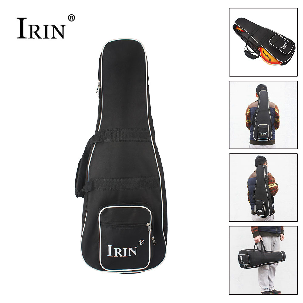 IRIN High Quality Black Mandolin Backpack Shoulder Double Strap Oxford Frabic Durable Washable Fashional Gig Bag Case Large Size wholesale luxury professional protable trumpet bag 600d soft pocket case durable cover good quality backpack shoulder withstrap