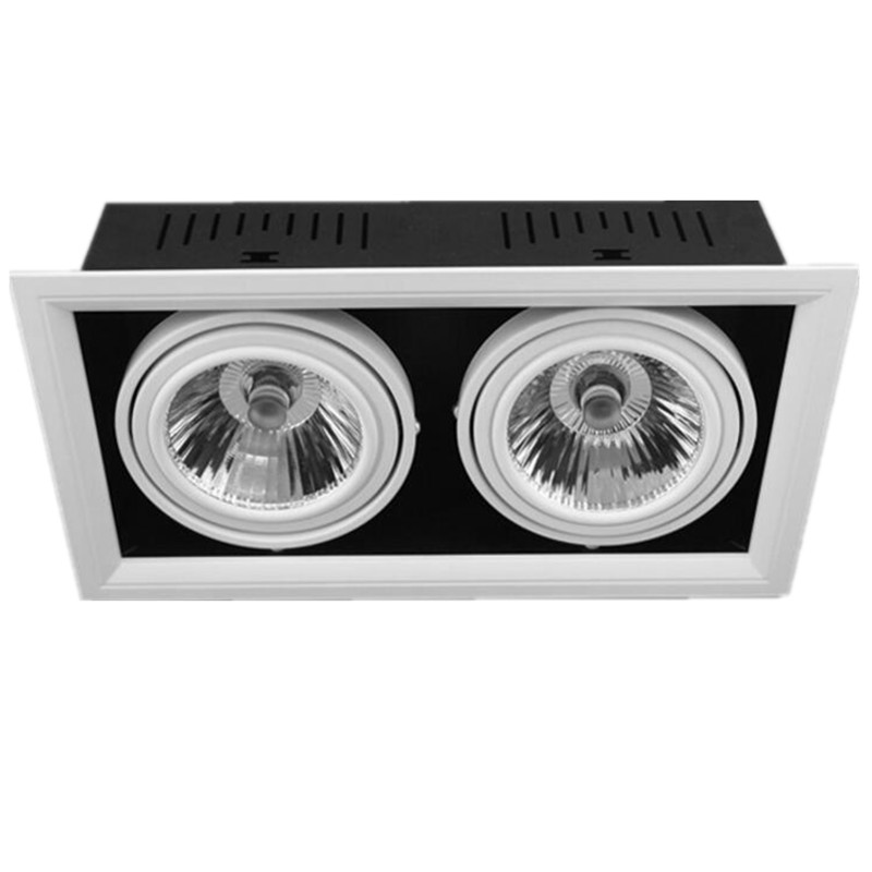 2*15W 30W Double Dimmable Recessed Warm/cold white LED downlight COB LED Spot light LED ceiling lamp AC85V-265V Square diykit wired 12v 24v dc 9 car monitor rear view kit backup waterproof ccd camera system kit for bus horse trailer motorhome