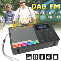 Portable DAB/DAB+ FM Bluetooth4.0 1.8 Inch TFT Screen LCD Digital Radio Music Speaker MP3 USB Alarm Clock Digital Support RDS