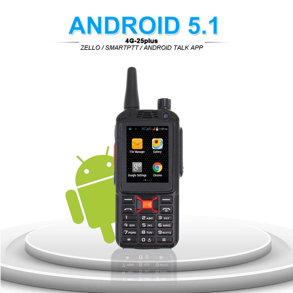 Image 4 - 4G LTE Android Walkie Talkie F25 Poc network Phone Radio Intercom Rugged Smart phone Zello REAL PTT Radio F25Walkie Talkie   -