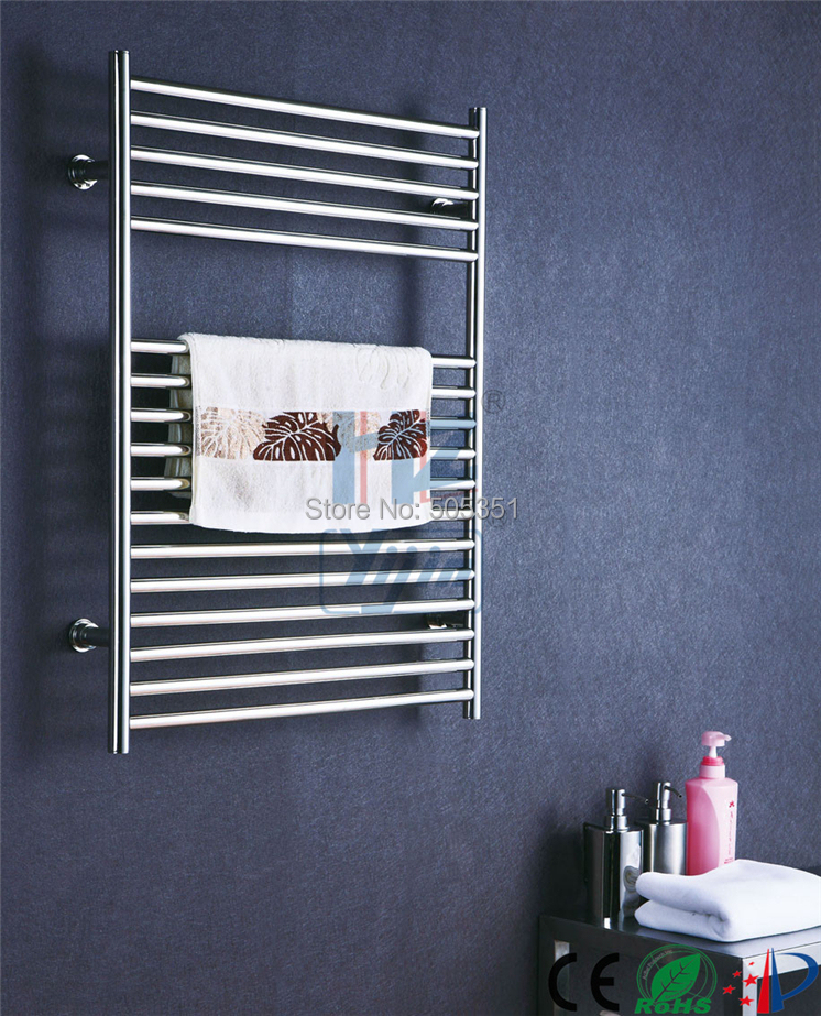Stainless Steel Heated Towel Rail Radiator: Chromed Heated Towel Rail Stainless Steel Electric Towel