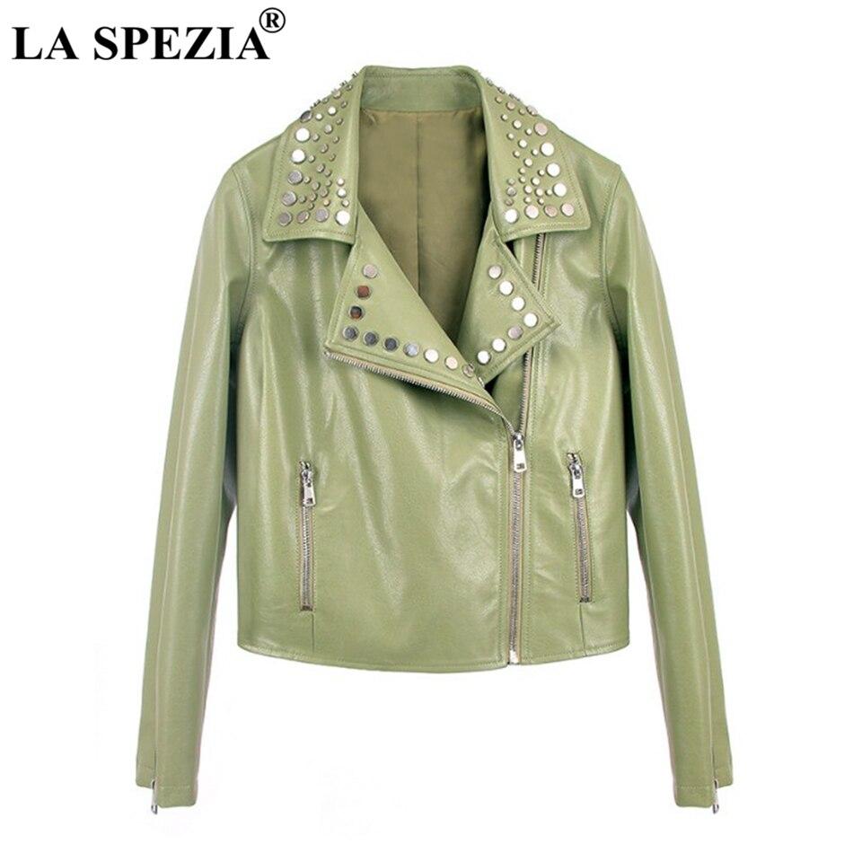 Black Sortie Dames light Cuir Manteaux Pu Printemps Rivet Femme En Biker Vêtements Femmes Zipper Green Veste La light Spezia Moto De Noir Frais Khaki Rock 4jL3cR5Aq