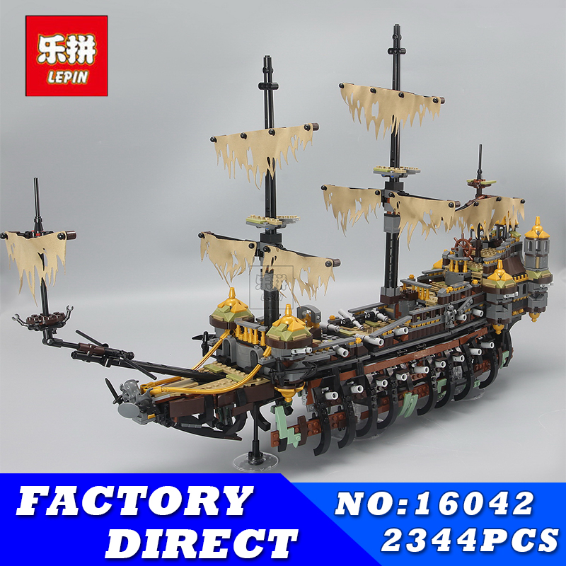 LEPIN 16042 2344Pcs Movie Seires Pirate of The Caribbean Mary Speed Set Building Blocks Bricks Children Toys Compatible 71042