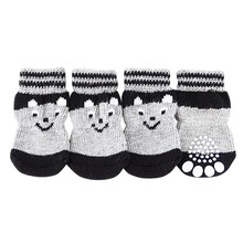 4 шт. милые мягкие теплые носки для щенков зимние парусиновые ботинки для собак маленькие собаки S-XL
