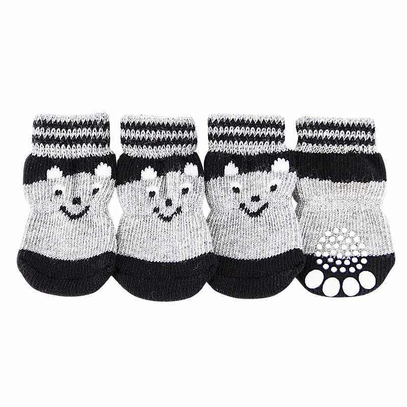 4 stuks Mooie Pet Puppy Zachte Warme Sokken Laarzen Winter Canvas Hond Schoenen Kleine Honden S-XL