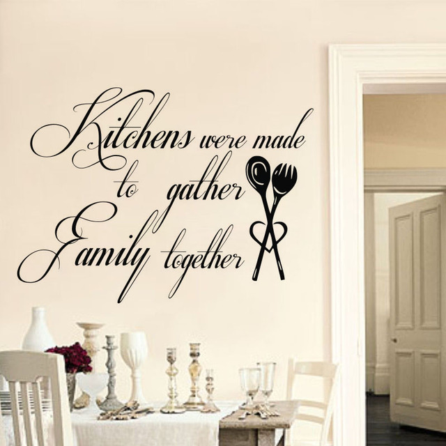 home decor wall stickers kitchens were made to gather family