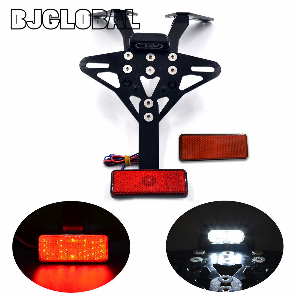 BJGLOBAL Motorcycle Licence Plate Holder Fender Eliminator Tail Tidy License Plate Light Bracket For Yamaha TMAX 530 2013-2016 for suzuki gsx r600 k6 motorcycle fender eliminator license plate bracket tail tidy tag rear for suzuki gsxr750 k6 2006 2007