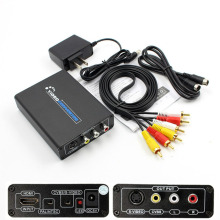 HDMI to Composite / AV S-Video R/L Audio to HDMI Converter 2 RCA/ S-Video Switcher Adaptor Connector AV S-Video CVBS Converter цена и фото