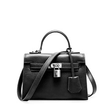 Fashion European and American style famous brand leather women's handbag luxury high quality one shoulder slung women's bag