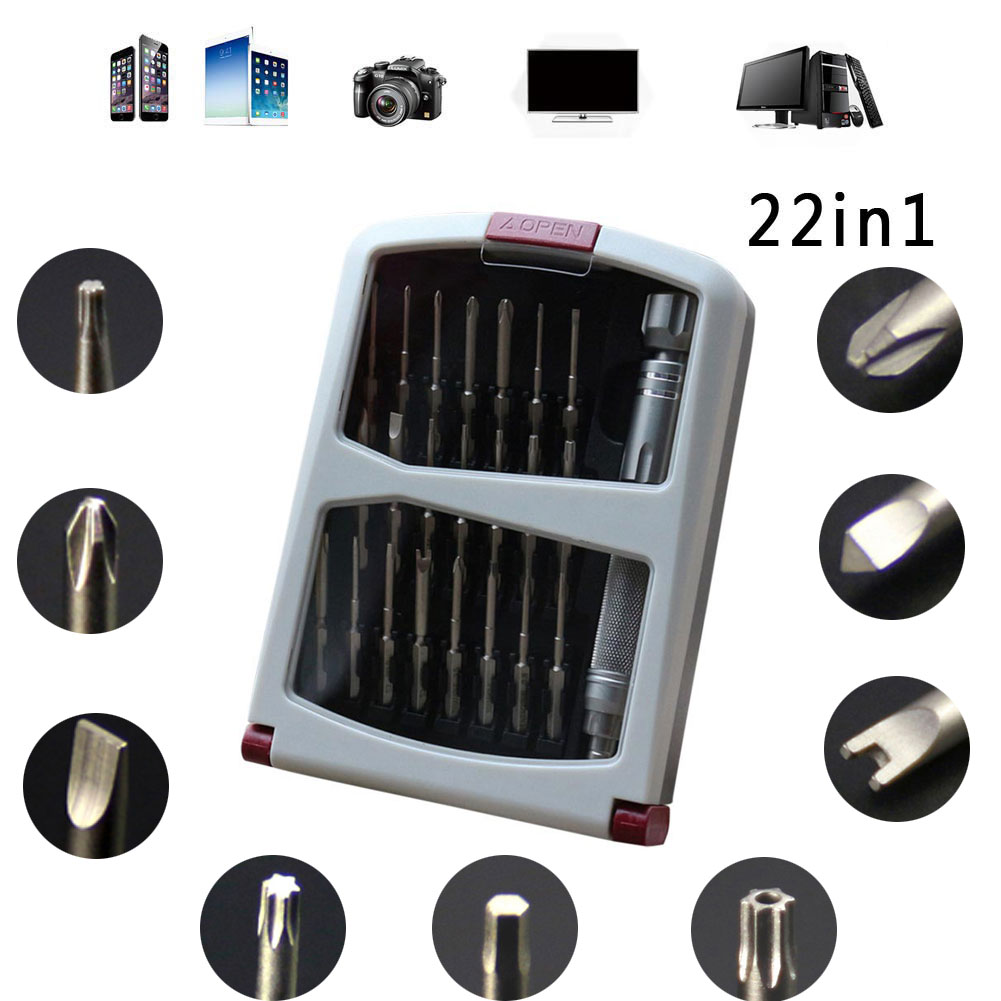 22 in 1 multifunction screwdriver repair tool kit set. Black Bedroom Furniture Sets. Home Design Ideas