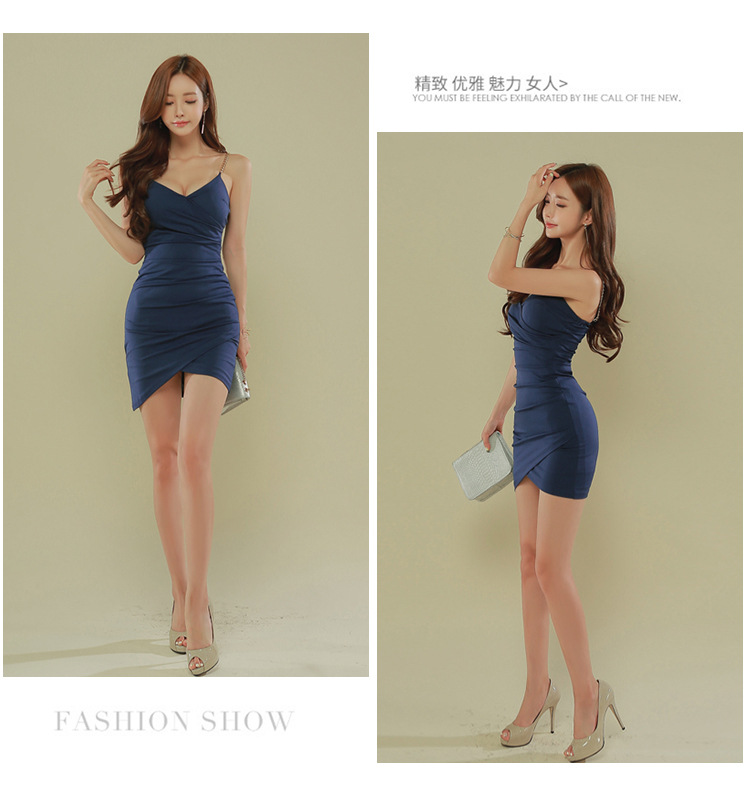 YaLiShi New Summer Office Navy Spaghetti Strapless Dress Bandage Party Sexy Vintage Bodycon Mini Dresses Women Vestidos De Festa