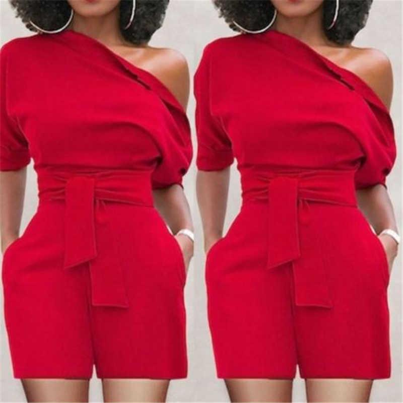 Mode Frauen Sexy Overall Romper Spitze-up Kurzarm Hosen Overall Clubwear Kurze Hosen