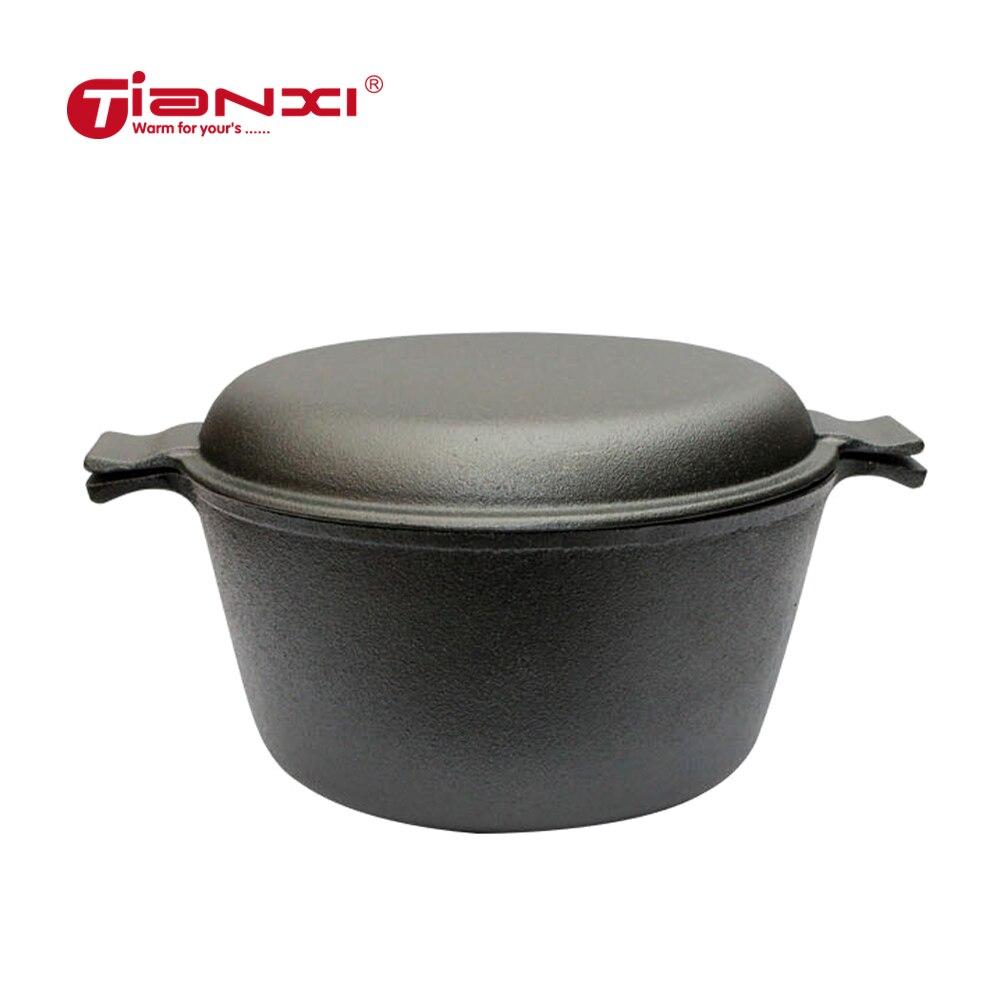 21/25CM Soup Cast Iron Pots Cast Iron Pots Stew Pot Iron