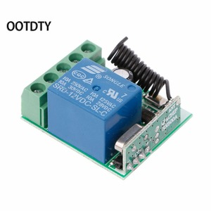 Image 2 - 315M or 433M  Universal  Wireless Remote Control Switch DC12V 1CH Relay Receiver Module + 2 RF Transmitter