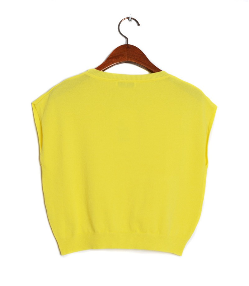 Summer 2016 Solid knitted short Pullover Sweater (12)