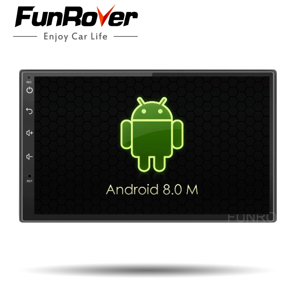 FUNROVER 2G Android 8.0 car multimedia player car dvd gps navigation radio video player stereo universal 2 din Bluetooth USB RDS все цены