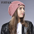 FURTALK Slouchy Hat for Women Knitted Beanie Hats Fashion Ski Cap Girls Hats Stocking Hats Female Spring Autumn Hats
