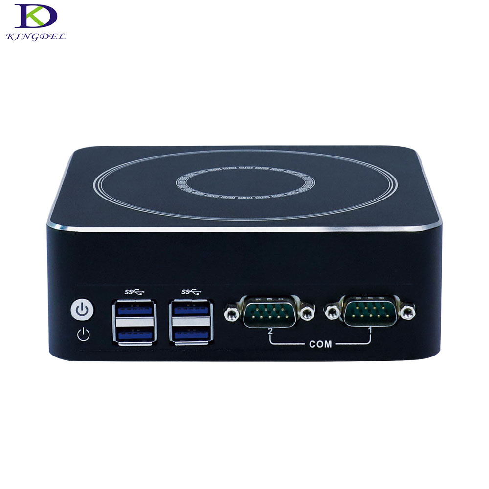 DDR4 Mini PC Mini Industrial Computer Intel 7th Gen CPU Core i7 7500U Dual Core Nettop Micro HTPC with DP HDMI 2*COM Windows 10