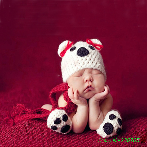 749c673a610 Super Cute Baby Infant Puppy Dog Handmade Knitted Crochet Animal Costume  Photo Photography Prop Newborn Newborn