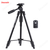 Portable Aluminum Alloy Tripod Wireless Remote Control Shutter with Smartphone Mount for ILDC Phone Video Digital Camera CD15