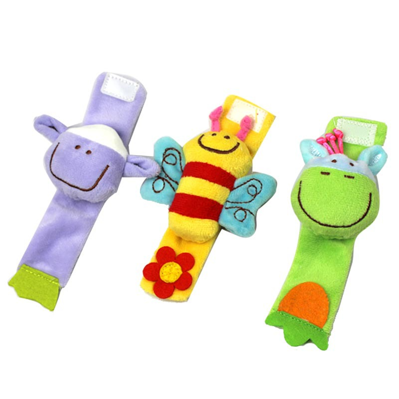 2-12 months Baby Toys Animals Baby Wrist with rattles Popular Enlightenment educational toys