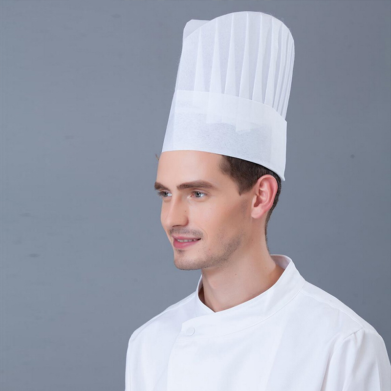 10pcs Chef Hat Disposable Paper Cap Fiber Non Woven Cap Red Hat Black And White High Hat Hotel Restaurant Chef Hat Restaurant Chef Hats Chef Hatrestaurant Chefs Aliexpress