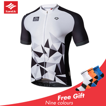 2019 Santic Pro Team Cycling Jersey Vintage MTB Bike Clothing Men Short  Riding Bicycle Mens Shirt Ciclismo Summer New