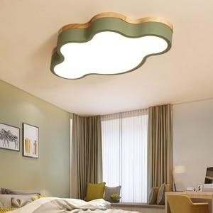 Image 4 - MDWELL מודרני Led תקרת אורות ענן צורת LED עבור שינה ילדי ילדי חדר Luminaire חמוד עץ תקרת מנורה קבועה