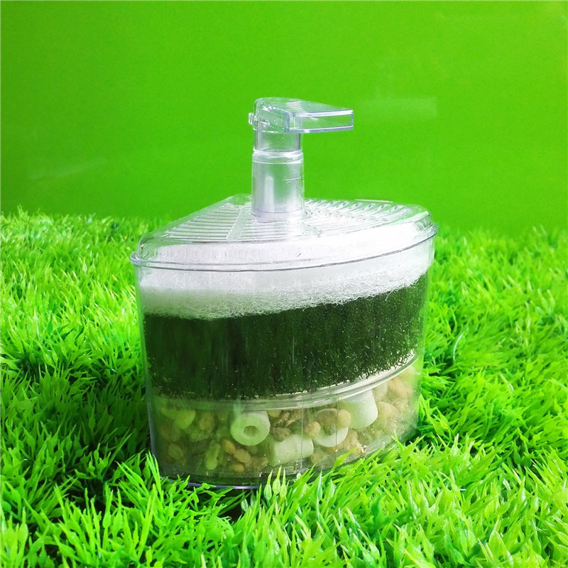 10 * 8 * 12 cm Aquarium Air Driven Bio Corner Filter Sponge Fry krevetid Nano Fish Tank Aquarium 1tk